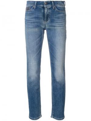 Укороченные джинсы Piper Cambio. Цвет: синий