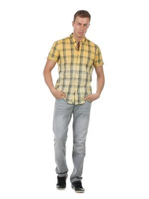Рубашка Colin's. Цвет: желтый