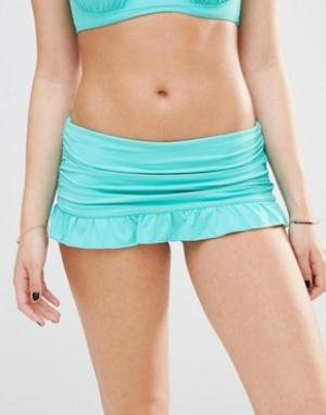 Coco Rave Плавки бикини с оборками. Цвет: зеленый