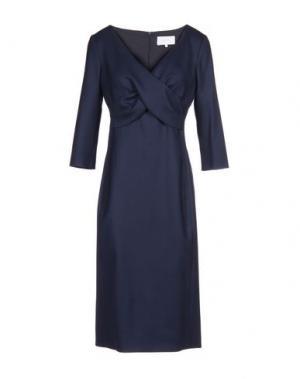 Платье до колена LUISA BECCARIA. Цвет: темно-синий