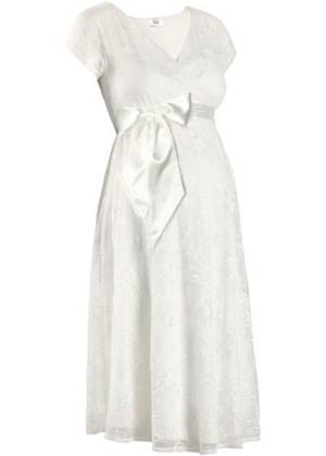 Праздничная мода для беременных: свадебное платье (цвет белой шерсти) bonprix. Цвет: цвет белой шерсти