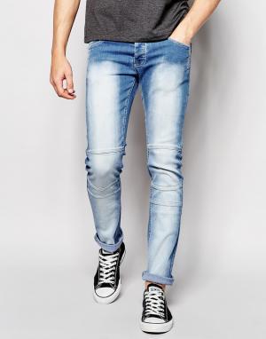 Loyalty & Faith Светлые джинсы с покрытием. Цвет: синий