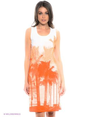 Платье LERROS. Цвет: оранжевый, белый