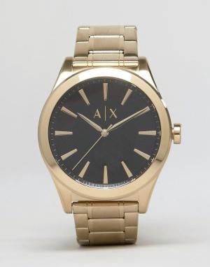 Armani Exchange Золотистые часы-браслет из нержавеющей стали AX2328. Цвет: золотой
