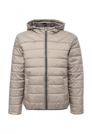 Куртка утепленная Sela. Цвет: бежевый