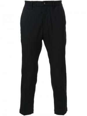 Укороченные строгие брюки Cityshop. Цвет: чёрный