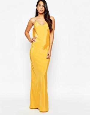 VLabel London Платье макси Covent. Цвет: желтый