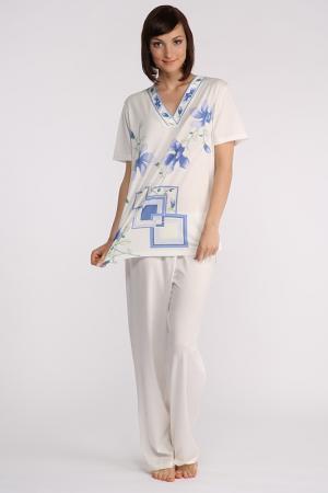 Пижама Furstenberg. Цвет: жемчужный