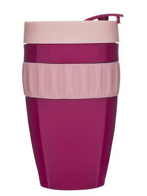 Кружка для напитков на вынос Sagaform. Цвет: фуксия, розовый