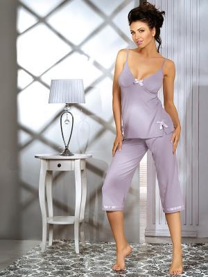 Пижама Babell. Цвет: серый