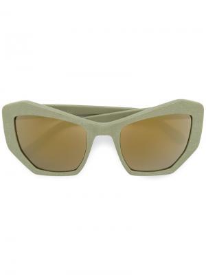 Солнцезащитные очки Brasilla Prism. Цвет: зелёный