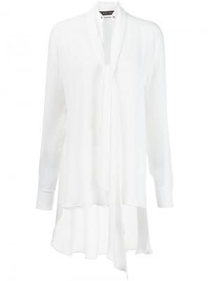 Блузка с бахромой Plein Sud. Цвет: белый