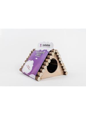 Домик для грызунов Zoobaloo. Цвет: коричневый