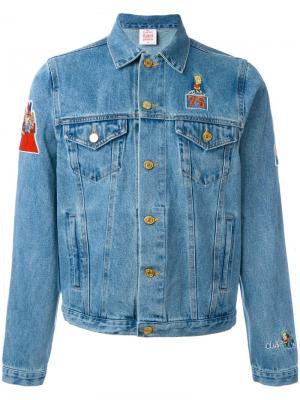 Джинсовая куртка с нашивками Bart Joyrich. Цвет: синий