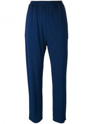 Укороченные спортивные брюки Jil Sander. Цвет: синий