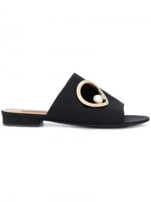 Декорированные сандалии Coliac. Цвет: чёрный