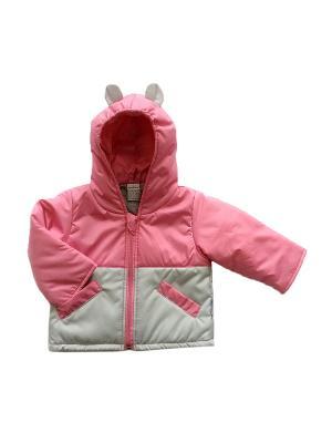 Куртка Микки Дашенька. Цвет: розовый, серый