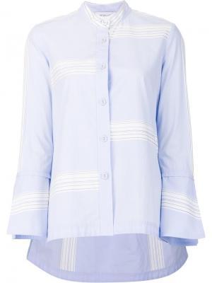 Рубашка в полоску Derek Lam 10 Crosby. Цвет: синий