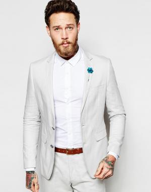 Feraud Светло-серый пиджак из 55% льна Premium. Цвет: серый
