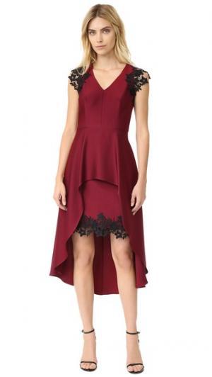 Платье Cecile Shoshanna. Цвет: портвейн
