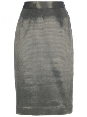 Юбка-карандаш Christian Dior Vintage. Цвет: металлический