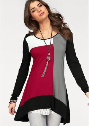 Кофточка BOYSENS BOYSEN'S. Цвет: серо-коричневый/бордовый, темно-синий/синий, черный/красный, черный/серый
