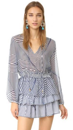 Блуза Bondi PALOMA BLUE. Цвет: темно-синий
