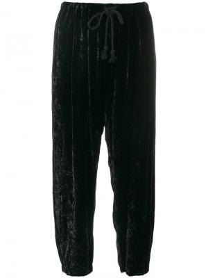 Спортивные брюки с бархатным эффектом Forte. Цвет: чёрный