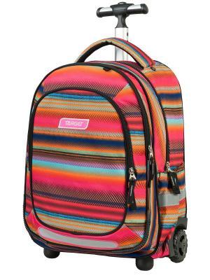 Рюкзак-тележка Allover 3 Target. Цвет: лазурный, оранжевый, фуксия
