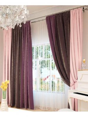 Фотошторы Олимп Текстиль. Цвет: лазурный,бледно-розовый