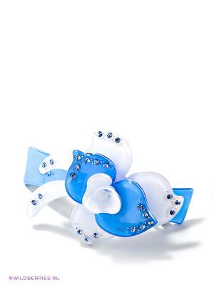 Заколка Bijoux Land. Цвет: голубой, белый