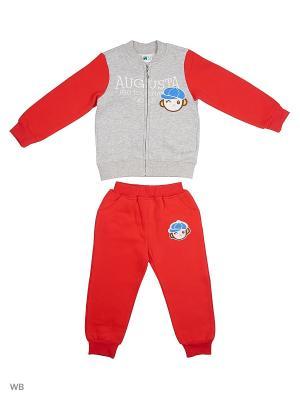 Толстовка на молнии и брюки Sago Kids i Ant Domain. Цвет: красный, серый