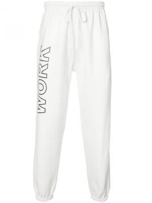 Спортивные брюки Work Andrea Crews. Цвет: белый
