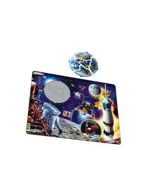 Пазл Аполло 11 LARSEN AS. Цвет: голубой, оранжевый, желтый, белый, синий, зеленый