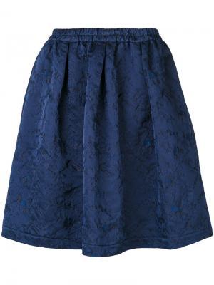 Фактурная юбка Aspesi. Цвет: синий
