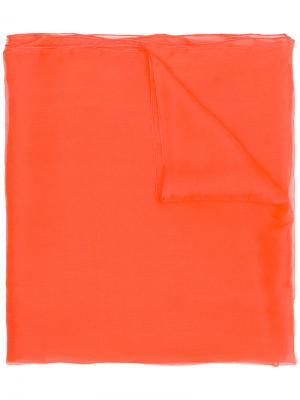 Plain scarf Rhea Costa. Цвет: жёлтый и оранжевый