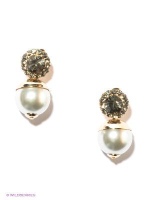 Серьги Lovely Jewelry. Цвет: золотистый, серый