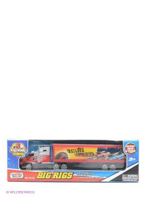 Грузовик с полуприцепом Motormax. Цвет: красный
