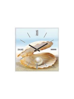 Часы настенные Михаилъ Москвинъ. Цвет: голубой, бежевый