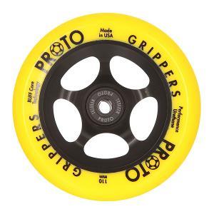 Колесо для самоката  Gripper 110Mm Day Glow Neon Yellow On Black Proto. Цвет: черный,желтый