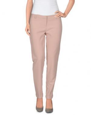 Повседневные брюки TO-MAY. Цвет: светло-розовый