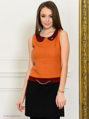 Платье Eunishop. Цвет: оранжевый, черный