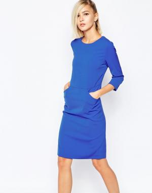 The Laden Showroom Платье-футляр с карманом спереди X Meekat. Цвет: синий