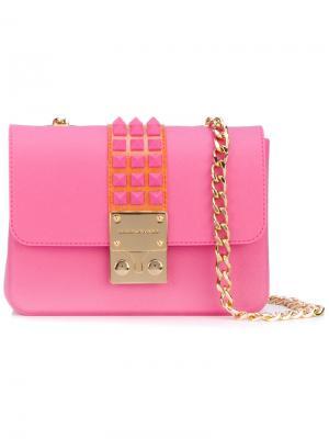 Сумка через плечо с заклепками Designinverso. Цвет: розовый и фиолетовый