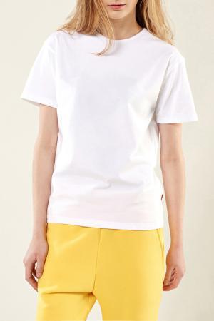 Свободная футболка с короткими рукавами Lava. Цвет: белый