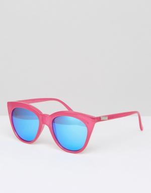 Le Specs Большие солнцезащитные очки кошачий глаз Hot. Цвет: розовый