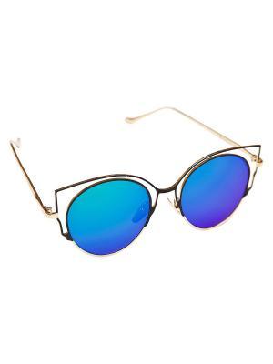 Солнцезащитные очки Aiyony Macie. Цвет: черный, зеленый, золотистый