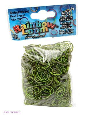 Резиночки Неоновый зеленый Средневековье RAINBOWLOOM. Цвет: зеленый