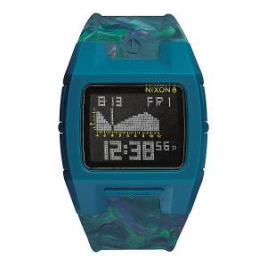 Часы  Lodown Silicone Marbled Multi Nixon. Цвет: синий
