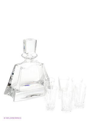 Набор для ликера Crystal Bohemia. Цвет: прозрачный